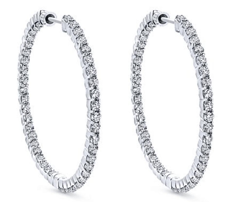 diamond hoop earrings Brittanys Fine Jewelry Gainesville, FL