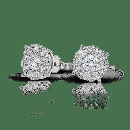 Boucles d'Oreilles Boutons Diamant Bijoux Fête des Mères