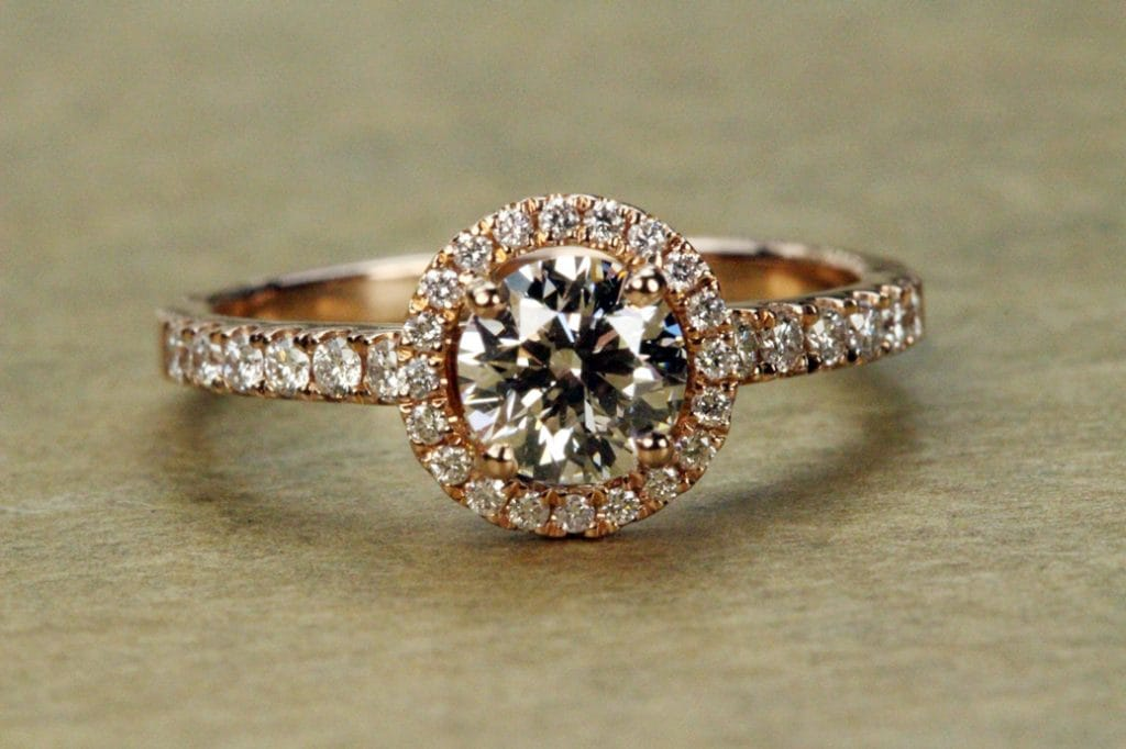 Rose_Gold_Diamond_Engagement_Ring Brittany's Fine Jewelry Gainesville, FL
