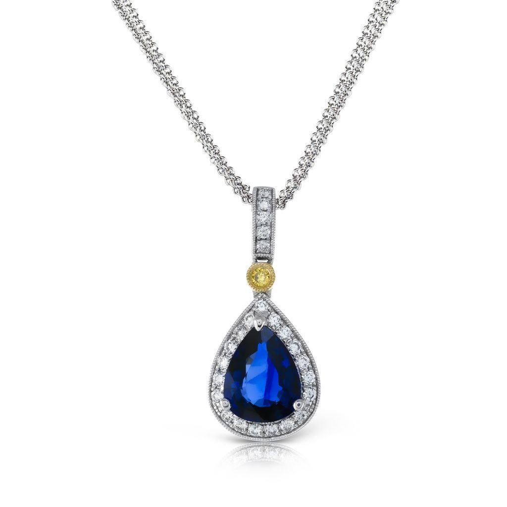 Collier bleu diamant