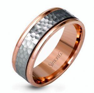 Men's Jewelry Hammered Metal Ring Gainesville FL