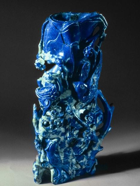 Lapis lazuli carved.