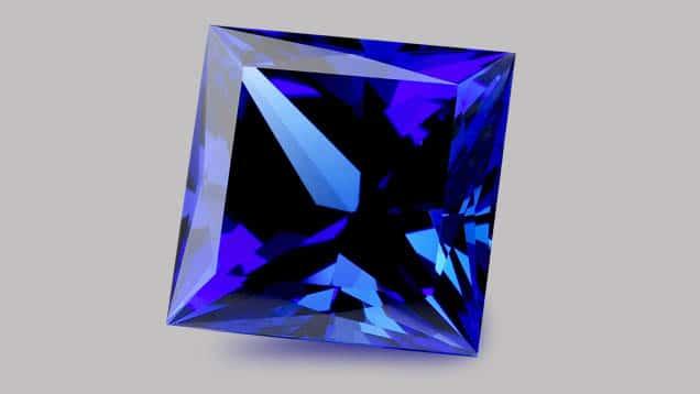 Tanzanite blue stone