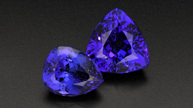 Tanzanite stones from Africa