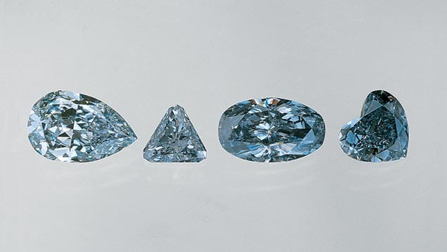 Blue Colored Diamonds