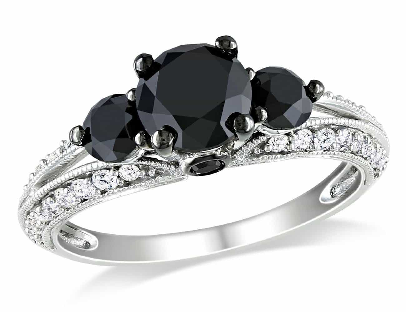 cut halo stacking diamond aria collections rose hexagon signature ring rings black jewelry wedding