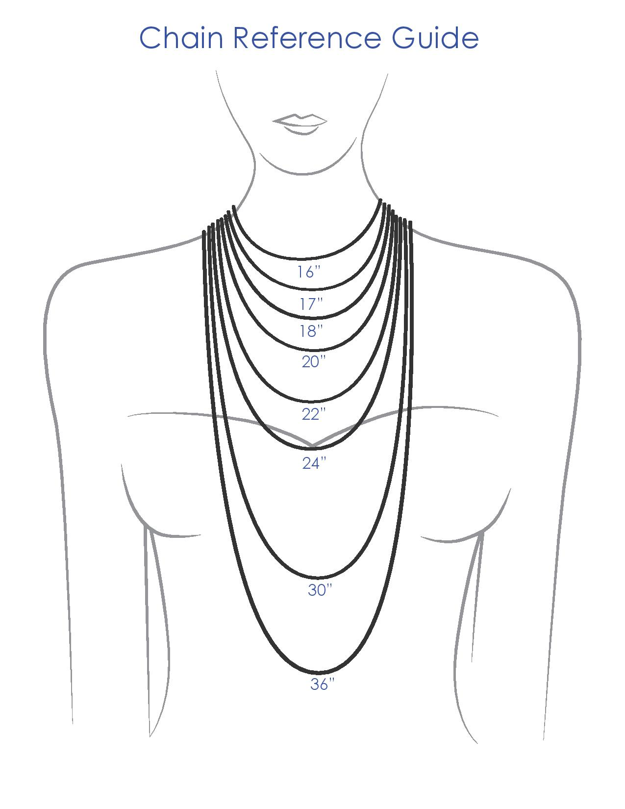 Chain Length Guide How to choose the right necklace for your neckline Brittany's Fine Jewelry Gainesville, FL