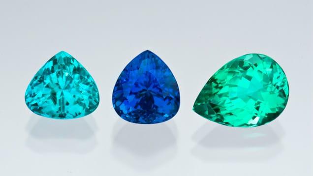 Paraiba Tourmaline different shades Brittany's Fine Jewelry Gainesville FL