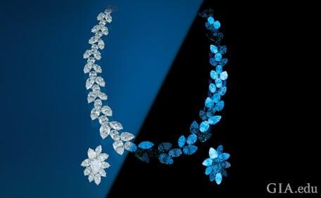 diamond fluorescence real diamond
