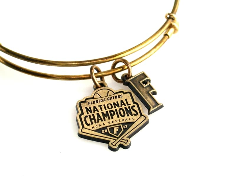 Florida Gators Baseball National Championship Expandable Bangle: Gold