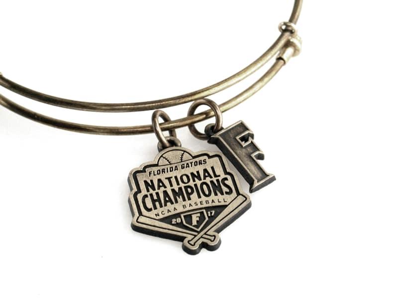 Florida Gators Baseball National Championship Expandable Bangle: Brass