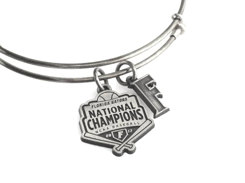 Florida Gators Baseball National Championship Expandable Bangle: Silver