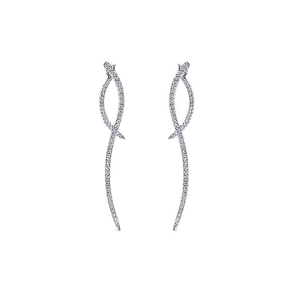 Gabriel Co. 14k White Gold Drop Earrings