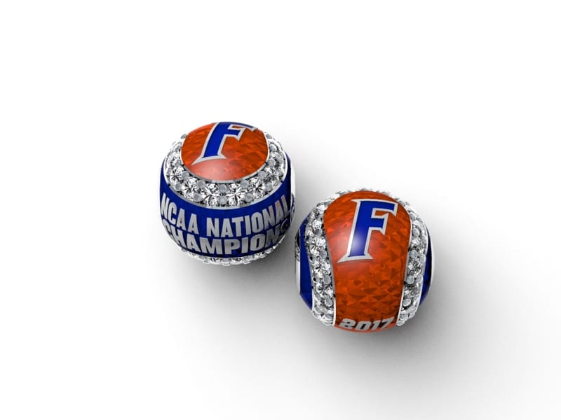 Florida Gators Baseball National Championship Enameled CZ Baseball Slider Charm Brittany's Fine Jewelry Gainesville FL