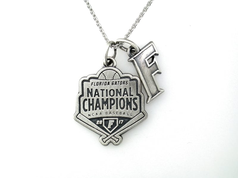 Florida Gators Baseball National Championship Charm Necklace Brittany's Fine Jewelry Gainesville FL