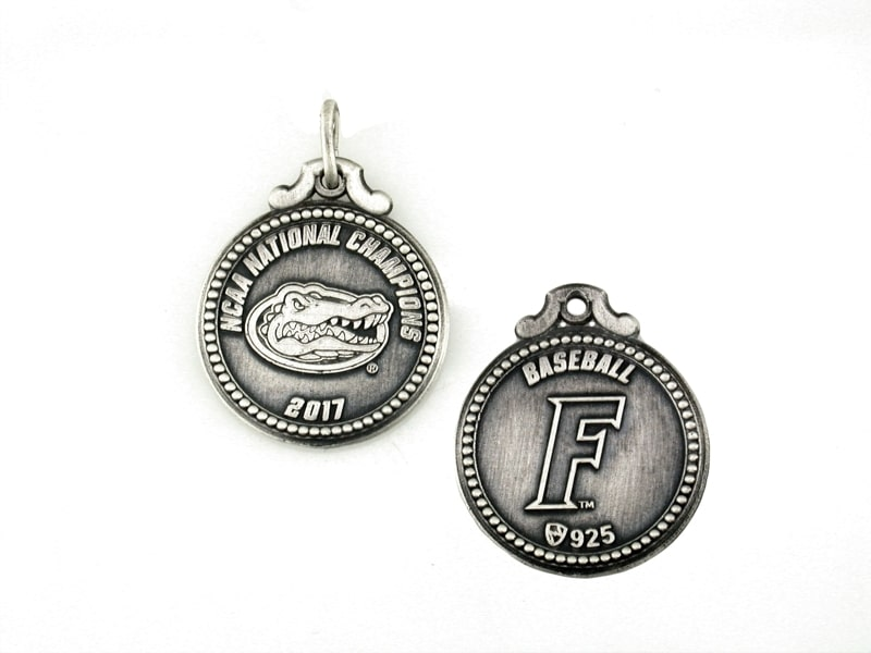 Florida Gators Baseball National Championship 20mm Round Reversible Charm Brittany's Fine Jewelry Gainesville FL