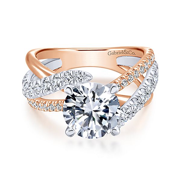 Rose Gold Engagement Ring Gabriel Co.