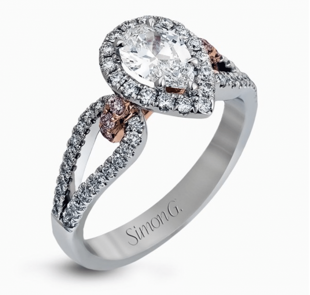 Pear Shaped Engagement Ring Brittanys Fine Jewelry Gainesville FL