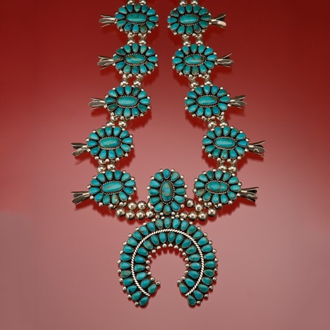 Pièce indienne turquoise