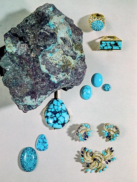 Bijoux bruts et finis turquoise