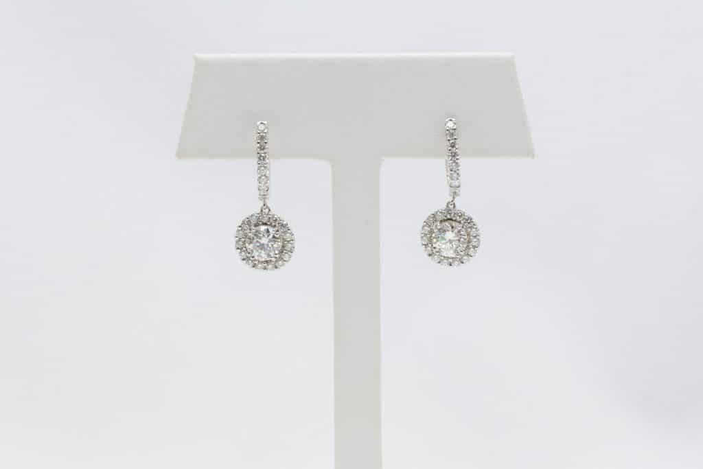 Brittany's fine jewelry diamond dangly earrings