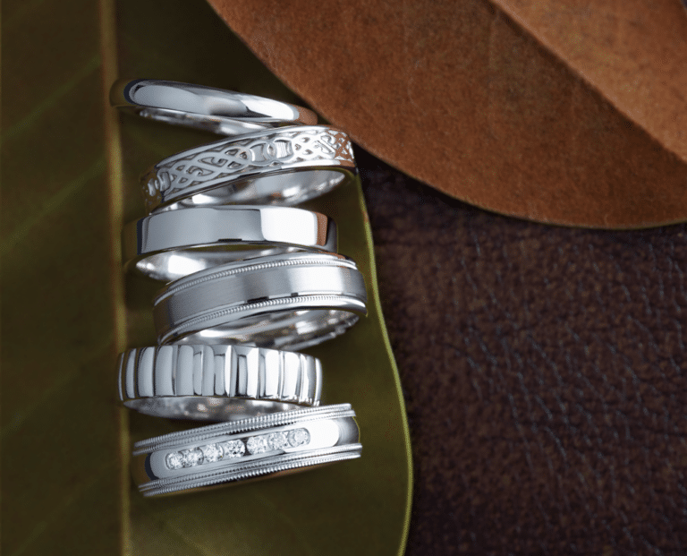 Wedding Bands for Him White