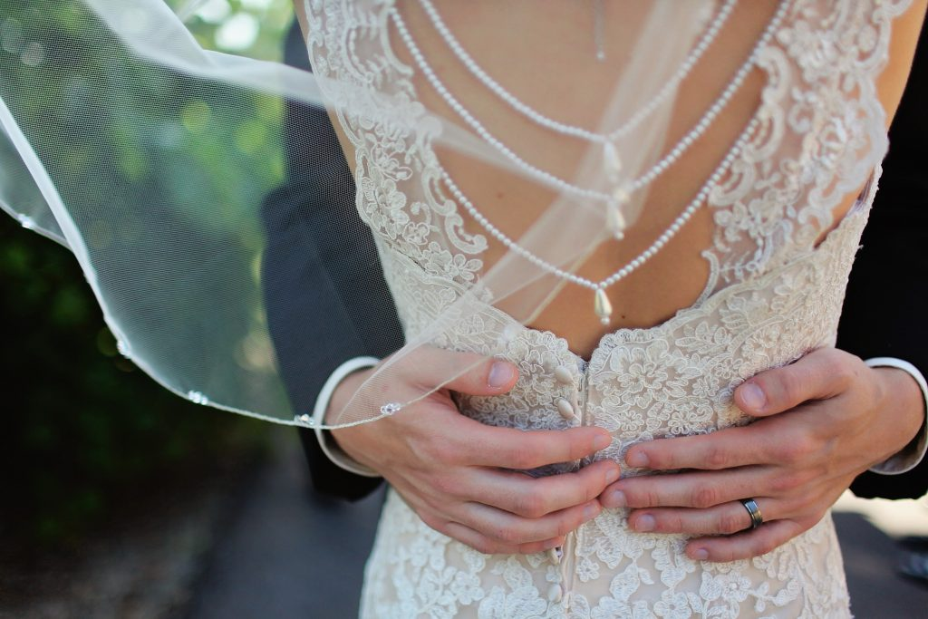back necklace wedding