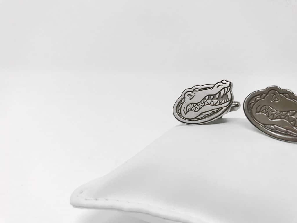 florida gators cufflinks silver