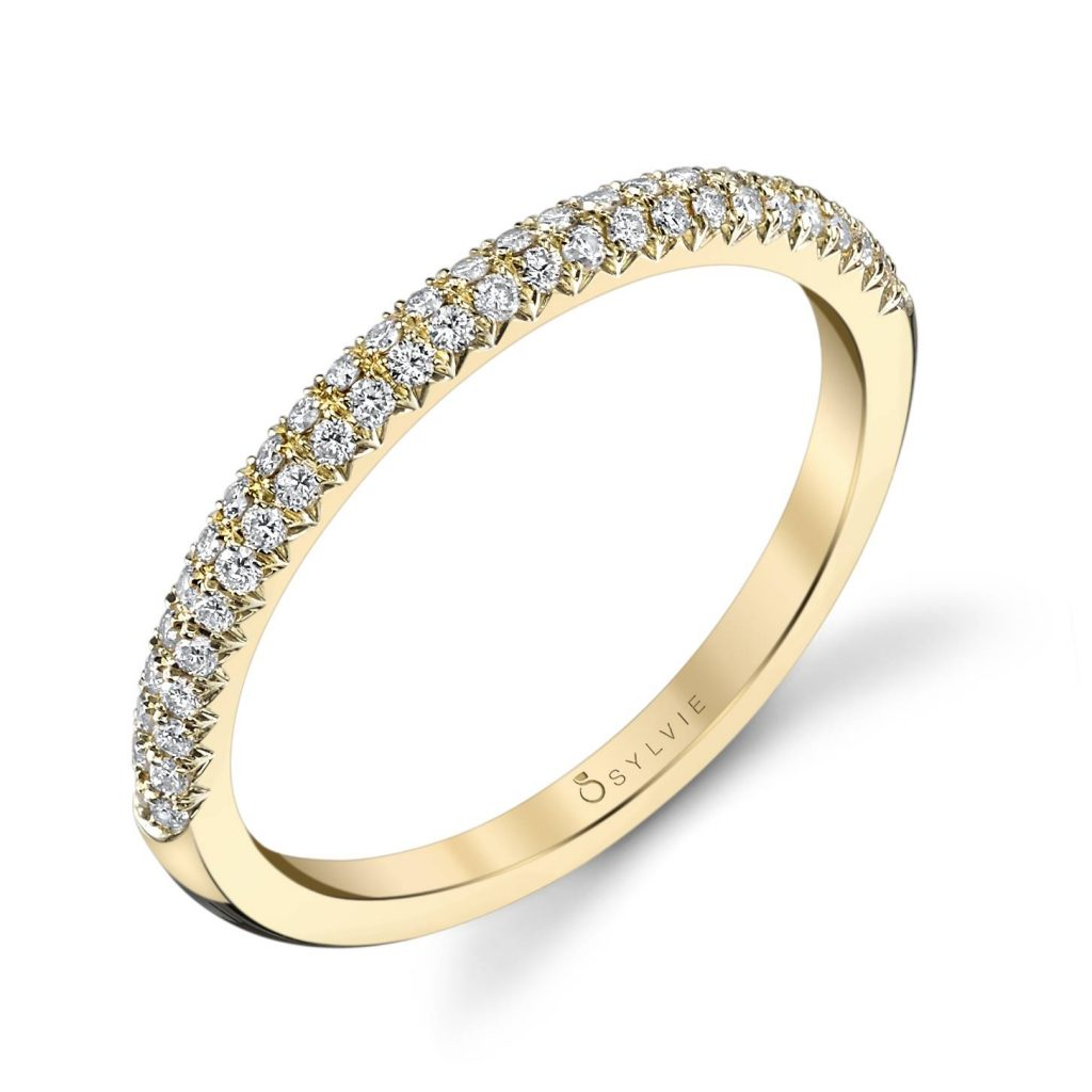 gold sylvie stackable ring