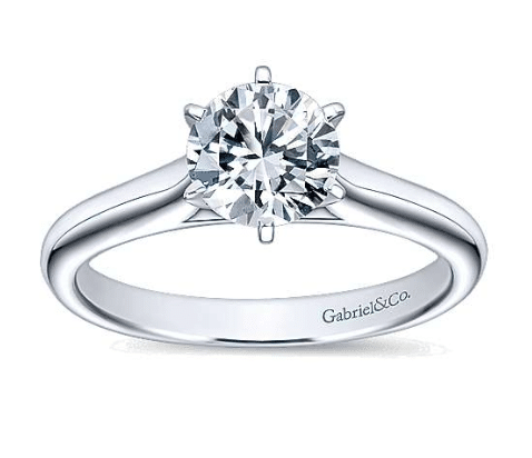 gabriel & co. ny solitaire prong engagement ring