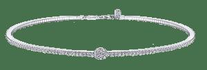Gabriel et Co.  Collier ras de cou diamant blanc Brittany's Fine Jewelry