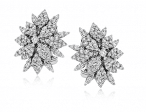 Simon G. White Diamond Statement Stud Earrings for Wedding Day - Brittany's Fine Jewelry