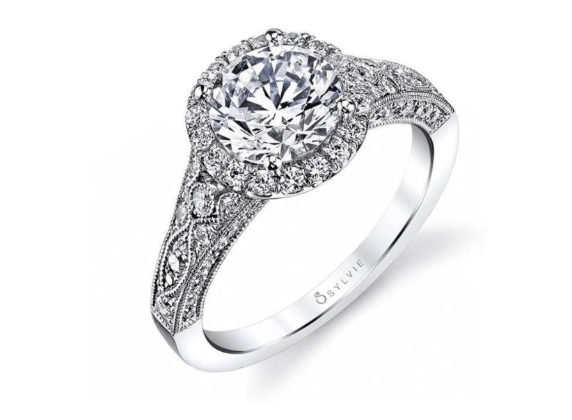 Cheri Vintage inspiré bague de fiançailles bijoux fins de la Bretagne