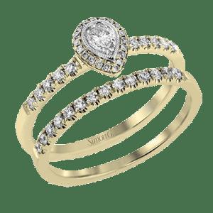 Ensemble de bagues de fiançailles et de mariage empilables en or Brittany Fine Jewelry