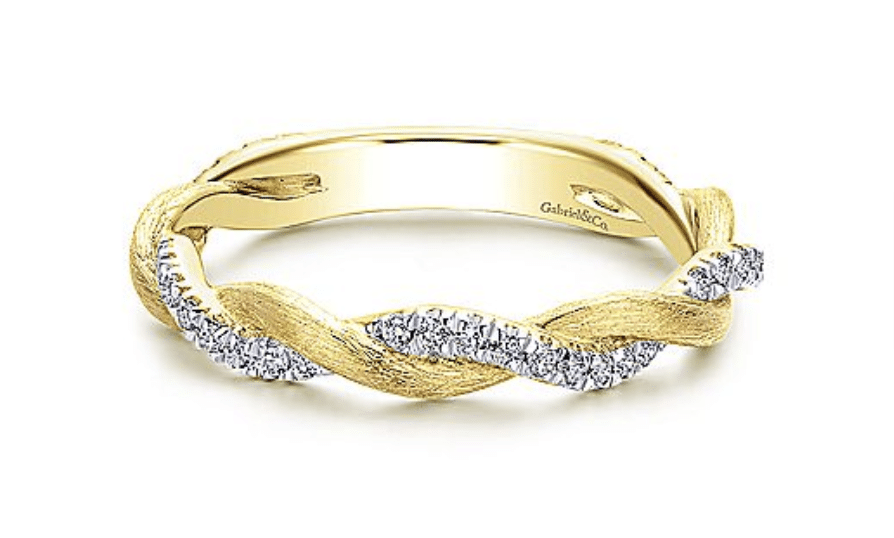 Gabriel & Co stackable gold ring