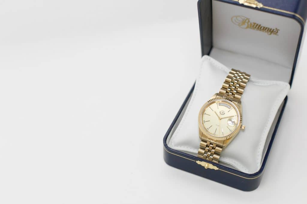 gold watch from Brittany's Fine Jewelry