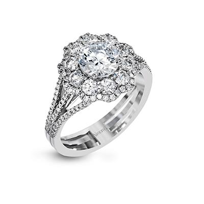 simon g cluster engagement ring