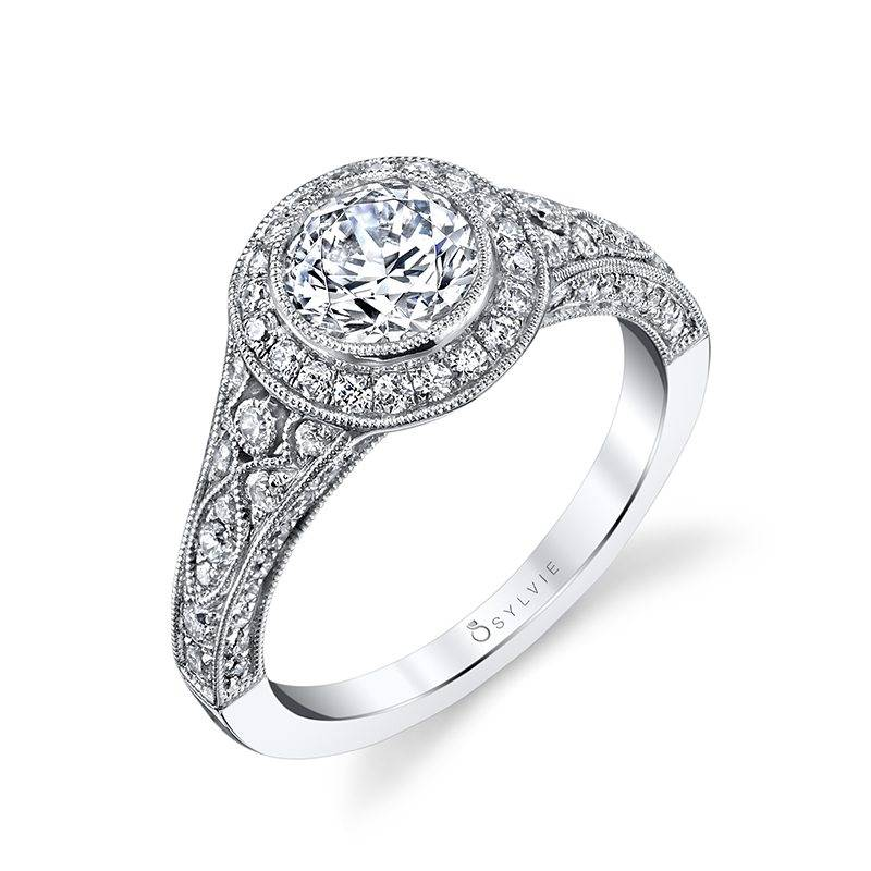 sylvie bezel engagement ring