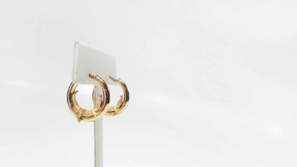 florida gator gold hoop earrings