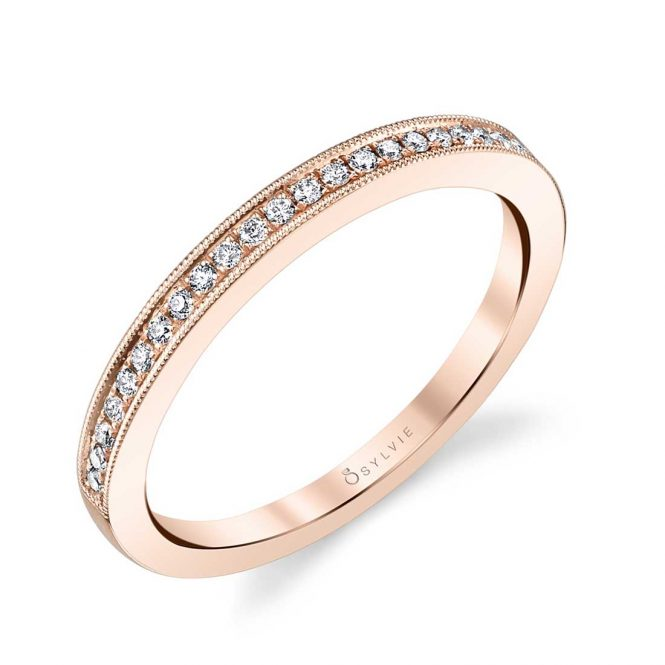 rose gold wedding band from sylvie