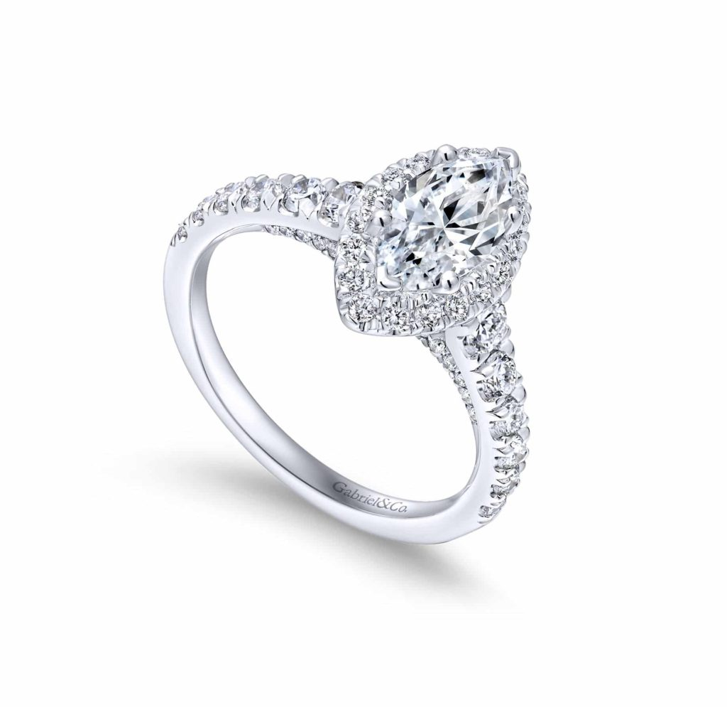 gabriel and co white gold engagement ring