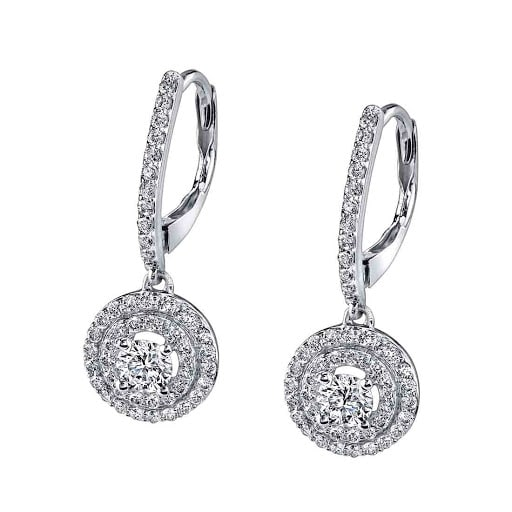 Silver and diamond earrings from Sylvie