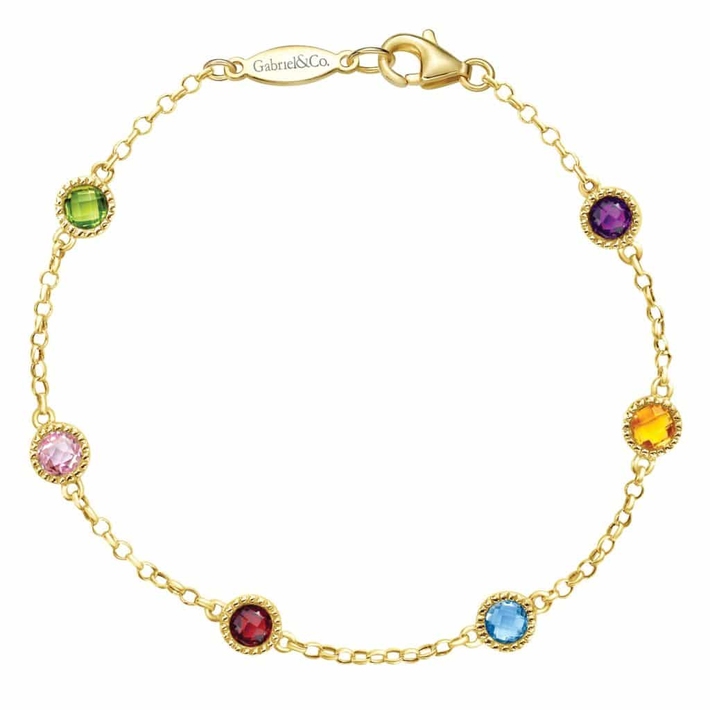 Rainbow Gemstone Bracelet